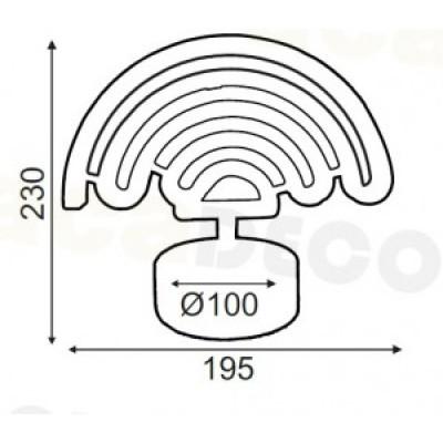 Παιδικό πορτατίφ LED ουράνιο τόξο 23cm