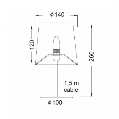 Μεταλλικό επιτραπέζιο φωτιστικό 26cm ACA