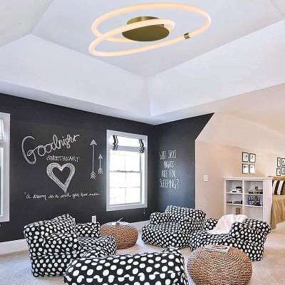 Φωτιστικό οροφής Ø60cm με κύκλους από PVC σωλήνα