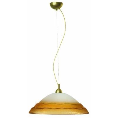 Κρεμαστό φωτιστικό γυάλινο κυματιστό Ø45cm με decor καλώδιο