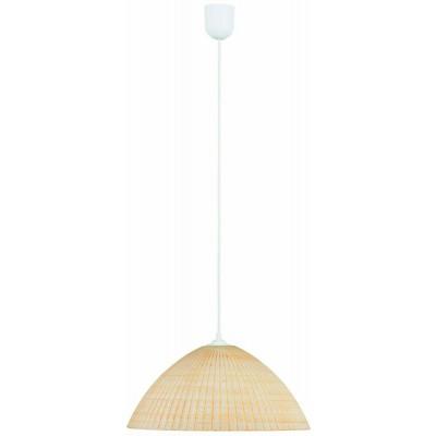 Μονόφωτο κρεμαστό φωτιστικό Ø25cm από γυαλί με τετραγωνάκια