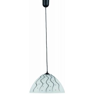 Κρεμαστό φωτιστικό γυάλινο με κυματιστό σχέδιο Ø25cm