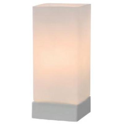 Ορθογώνιο πορτατίφ 24cm από γαλακτερό γυαλί με On-Off αφής