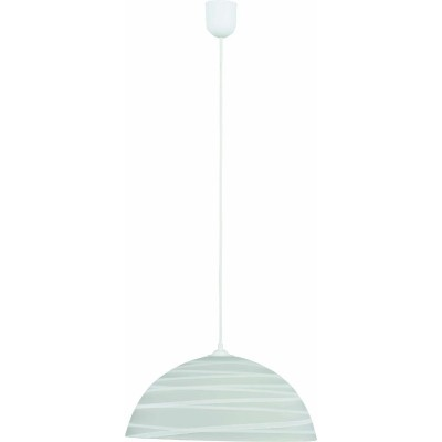 Κρεμαστό φωτιστικό Ø30cm γυάλινο με γραμμές