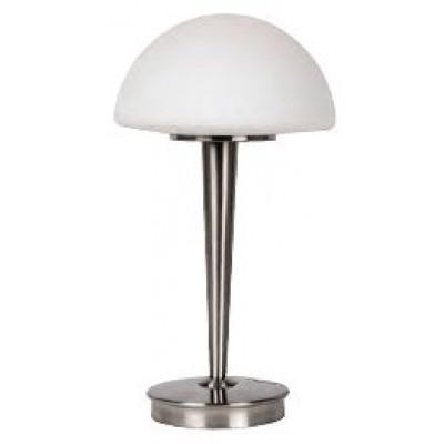Επιτραπέζιο φωτιστικό 42cm με λευκό γυάλινο καπέλο Ø23cm
