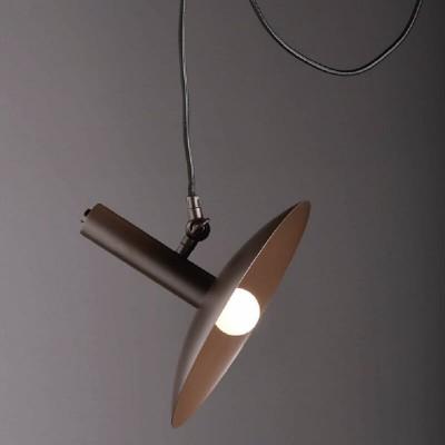 Κρεμαστό φωτιστικό μονόφωτο Ø25cm με βάση και στήριγμα οροφής