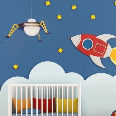 Παιδικό κρεμαστό φωτιστικό διαστημόπλοιο Ø61cm