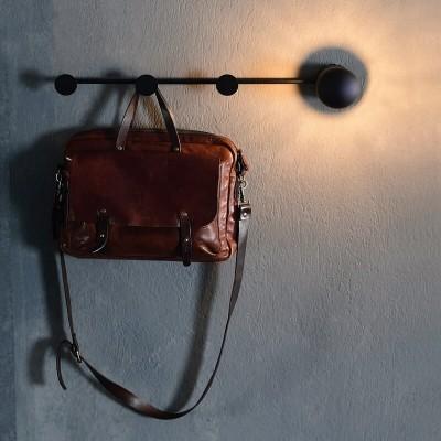 Μεταλλική κρεμάστρα τοίχου 70cm έμμεσου φωτισμού LED