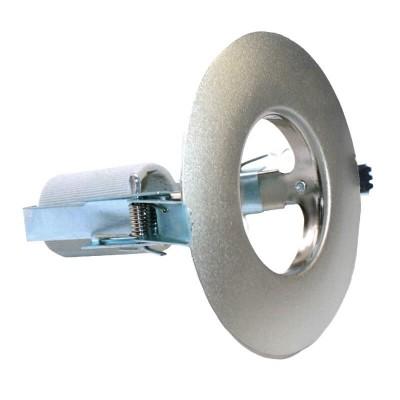 Χωνευτό στρογγυλό σποτ ατσάλινο R63 E27 Ø128mm με τρύπα κοπής Ø85mm