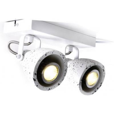 Δίφωτο σποτ οροφής/τοίχου λευκό 23cm