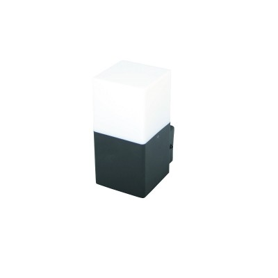 Στεγανή ορθογώνια απλίκα ανθρακί E27 8x11x17cm