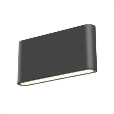 Στεγανό φωτιστικό τοίχου πλακέ slim 17x3cm LED UP&DOWN