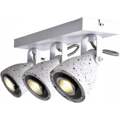 Τρίφωτο σποτ οροφής/τοίχου λευκό 36cm