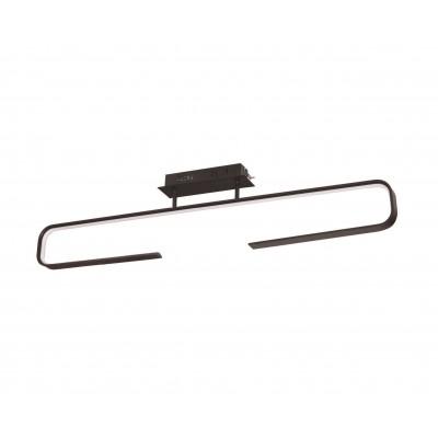 Φωτιστικό LED οροφής μαύρο 100cm