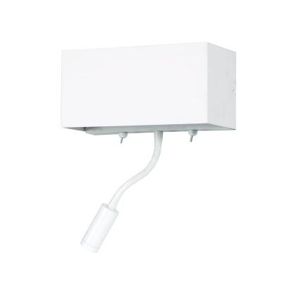 Απλίκα Reading λευκή μεταλλική με δύο διακόπτες LED-E27