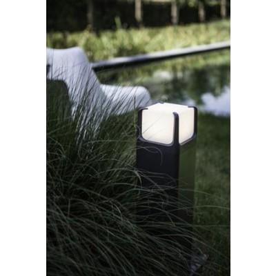 Κολωνάκι LED αλουμινίου με πολυκαρβονική κεφαλή