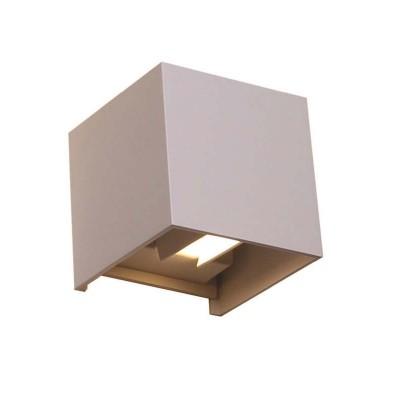 Στεγανός επίτοιχος κύβος 10x10cm με εναλλασσόμενη γωνία φωτισμού