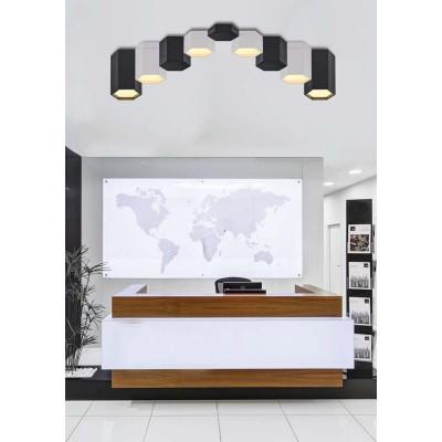 Μαύρο πολυγωνικό φωτιστικό οροφής LED