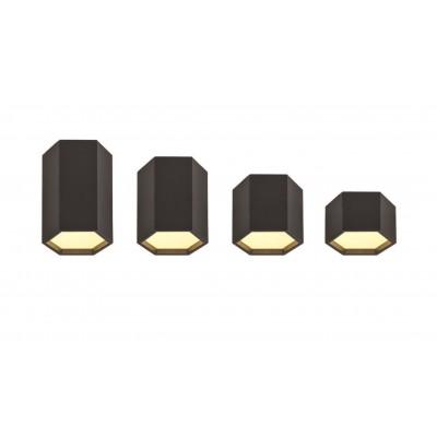 Μαύρος κύλινδρος οροφής LED