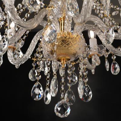 Gladiolo πολυέλαιος με 3 φώτα χρυσαφί ACA