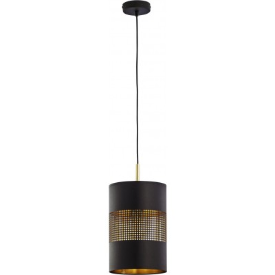 Κρεμαστό φωτιστικό Ø20x30cm μαύρο-χρυσό με τρυπητό σχέδιο