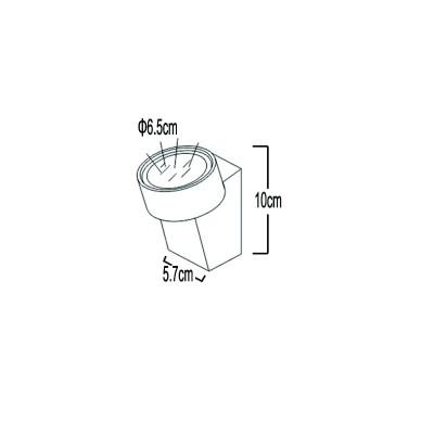 Σποτ τοίχου GU10 10x6cm αλουμινίου