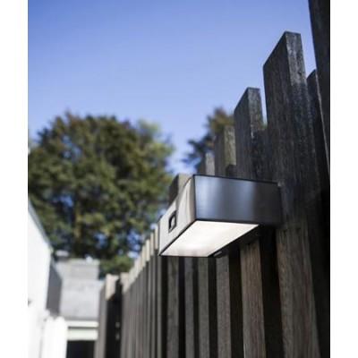 Ορθογώνια απλίκα LED ηλιακή με αισθητήρα κίνησης