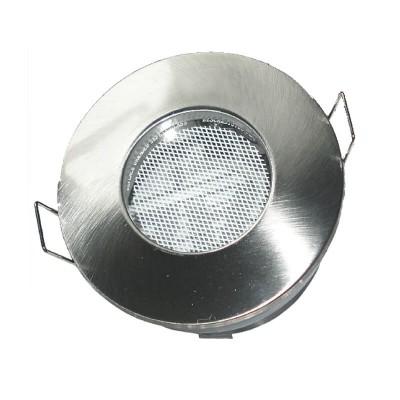 Στεγανό χωνευτό στρογγυλό σποτ αλουμινένιο GU10 Ø82mm με τρύπα κοπής Ø67mm