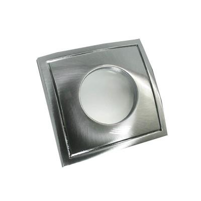 Στεγανό χωνευτό τετράγωνο σποτ αλουμινένιο GU10 82x82mm με τρύπα κοπής Ø67mm
