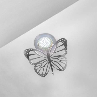 Χωνευτό φωτιστικό οροφής πεταλούδα 15x12cm GU10