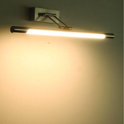 Σιδερένια γραμμική απλίκα καθρέφτη-πίνακα 50cm LED