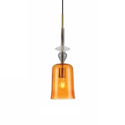 Γυάλινο κρεμαστό Ø15cm πορτοκαλί