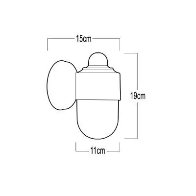 Πλαστική στεγανή απλίκα seaside E27 15x19cm