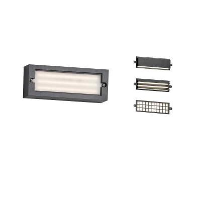 Ορθογώνια απλίκα τοίχου LED 26x9cm πολυμορφική