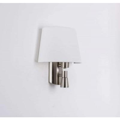 Απλίκα τοίχου λευκή 13x30cm με κεφαλή reading