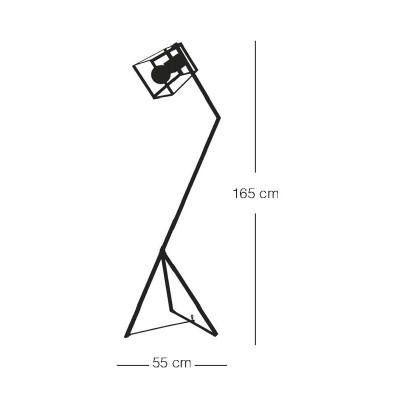 Μεταλλικό φωτιστικό δαπέδου 165cm