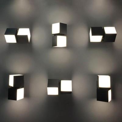 Διπλή περιστρεφόμενη απλίκα LED στεγανή