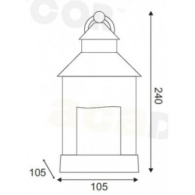Πορτατίφ 24cm πλαστικό φανάρι LED με μπαταρίες