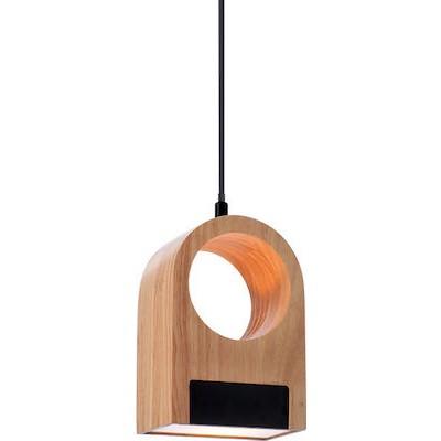 Ξύλινο κρεμαστό φωτιστικό LED 22x15cm