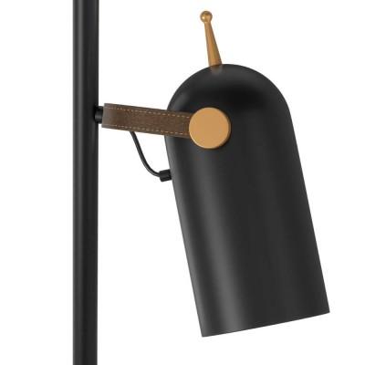 Τρίφωτο δαπέδου 150cm μαύρο με χρυσές λεπτομέρειες