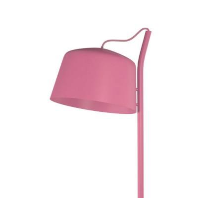 Ροζ φωτιστικό δαπέδου 134cm με κεφαλή Ø30cm