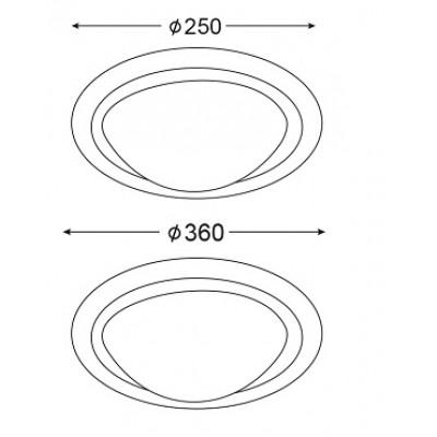 Κυκλικό φωτιστικό ασημί λευκό ACA