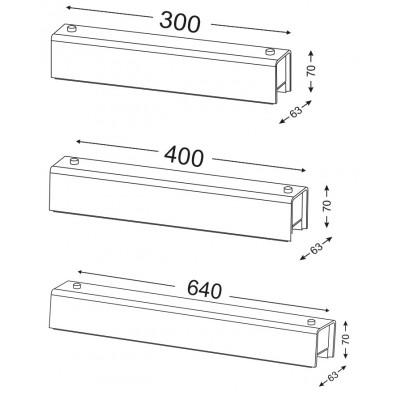 Ορθογώνιο φωτιστικό τοίχου ACA