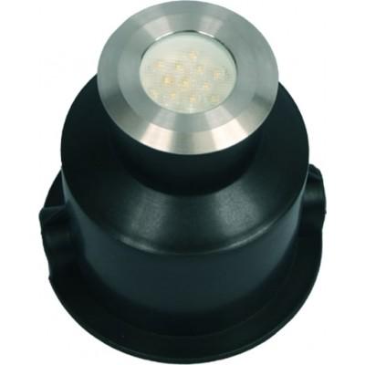 Στρογγυλό σποτ χωνευτό LED Ø6cm INOX seaside