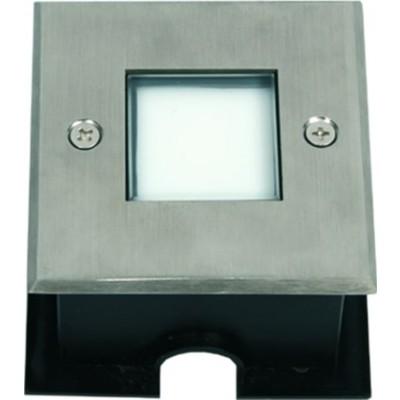 Τετράγωνο σποτ χωνευτό LED Ø8x8cm INOX seaside