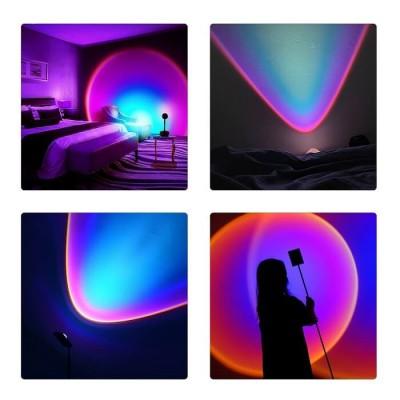 Επιτραπέζιο φωτιστικό 27cm με φακό ειδικού εφέ LED Rainbow Blue