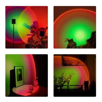 Επιτραπέζιο φωτιστικό 27cm με φακό ειδικού εφέ LED Rainbow Green