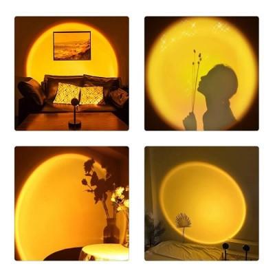 Επιτραπέζιο φωτιστικό 27cm με φακό ειδικού εφέ LED Sun Yellow