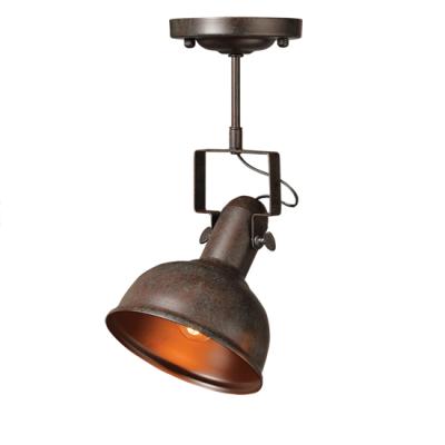 Περιστρεφόμενο σποτ οροφής Ø18x37cm vintage καφέ σκούρο