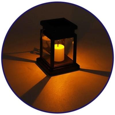 Ηλιακό φωτιστικό φαναράκι με κερί LED και αισθητήρα ημέρας-νύχτας